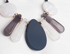 Collier marbre bleu