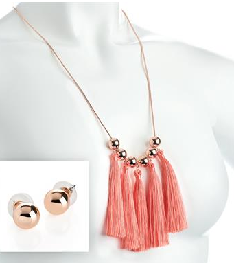 Collier mi long corail 1
