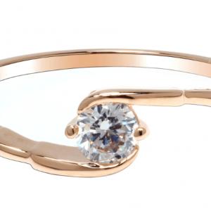 Design bague scintillante doree avec diamant image 2019