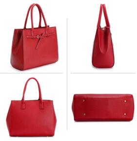 Design sac a main fourre tout femme rouge