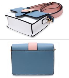 Design sac rose et bleu a bandouliere