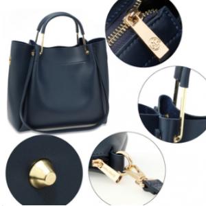 Detail sac cabas bleu