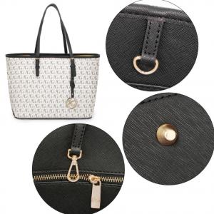 Detail sac cabas femme anna grace imprime