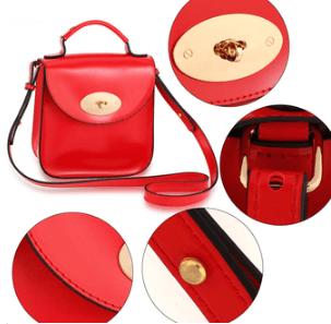 Details et caracteristique sac en bandouliere tendance femme rouge image 2019