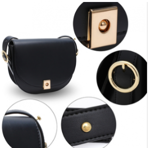 Details sac bandouliere moderne noir