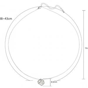 Dimension chaine argentee pendentif cube diamant image 2019