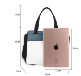 Dimension sac a main design noir bleu blanc