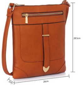 Dimension sac bandouliere marron