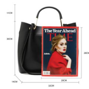 Dimension sac cabas noir femme 1