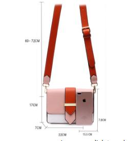 Dimension sac femme rose et orange