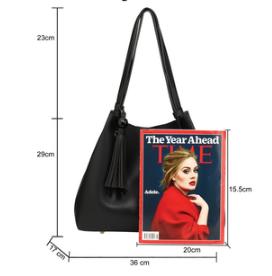 Dimension sac noir pour femme