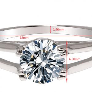 Dimensions bague de fiancialles fantaisie avec diamant 1