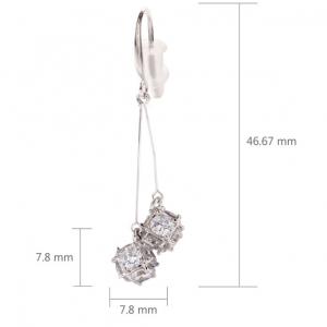 Dimensions boucles d oreilles pendante cube diamant image 2019