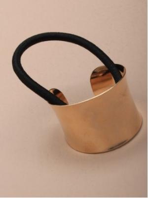 Elastique pour cheveux à anneau doré incurvé