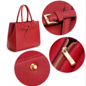 Elegant sac a main fourre tout rouge