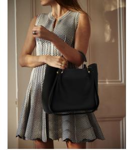 Idee tenue avec sac cabas femme noir