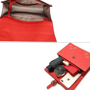 Interieur sac bandouliere rouge a rabat image 2019