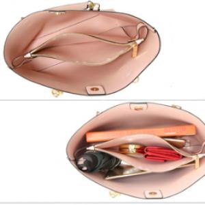 Interieur sac cabas rose pour femme