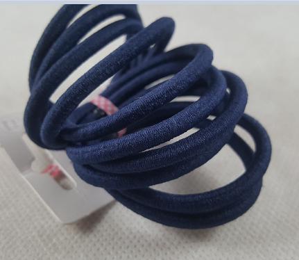 Lot de huit elastiques cheveux indigo