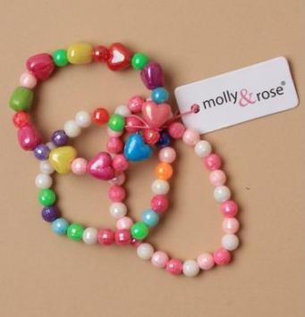 Lot de trois bracelets filles