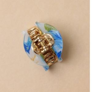 Pince a cheveux motif fleur bleu