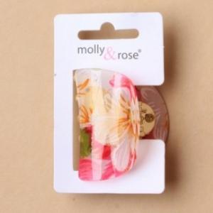 Pince a cheveux motif fleur rose