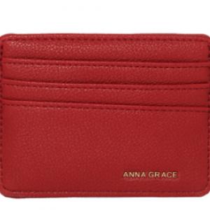 Porte carte rouge femme
