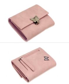 Porte feuille rose femme