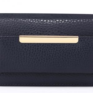 Porte monnaie femme en simili cuir bleu marine image 2019