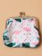 Porte monnaie flament rose blanc et vert