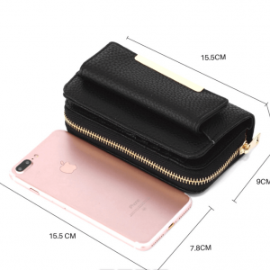 Porte monnaie noir en cuir synthetique dimensions image 2019