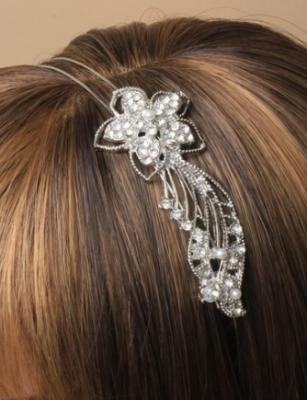Serre tête fleur diamant