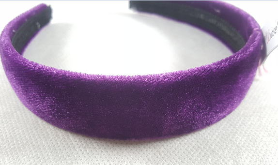 Serre tete velours violet