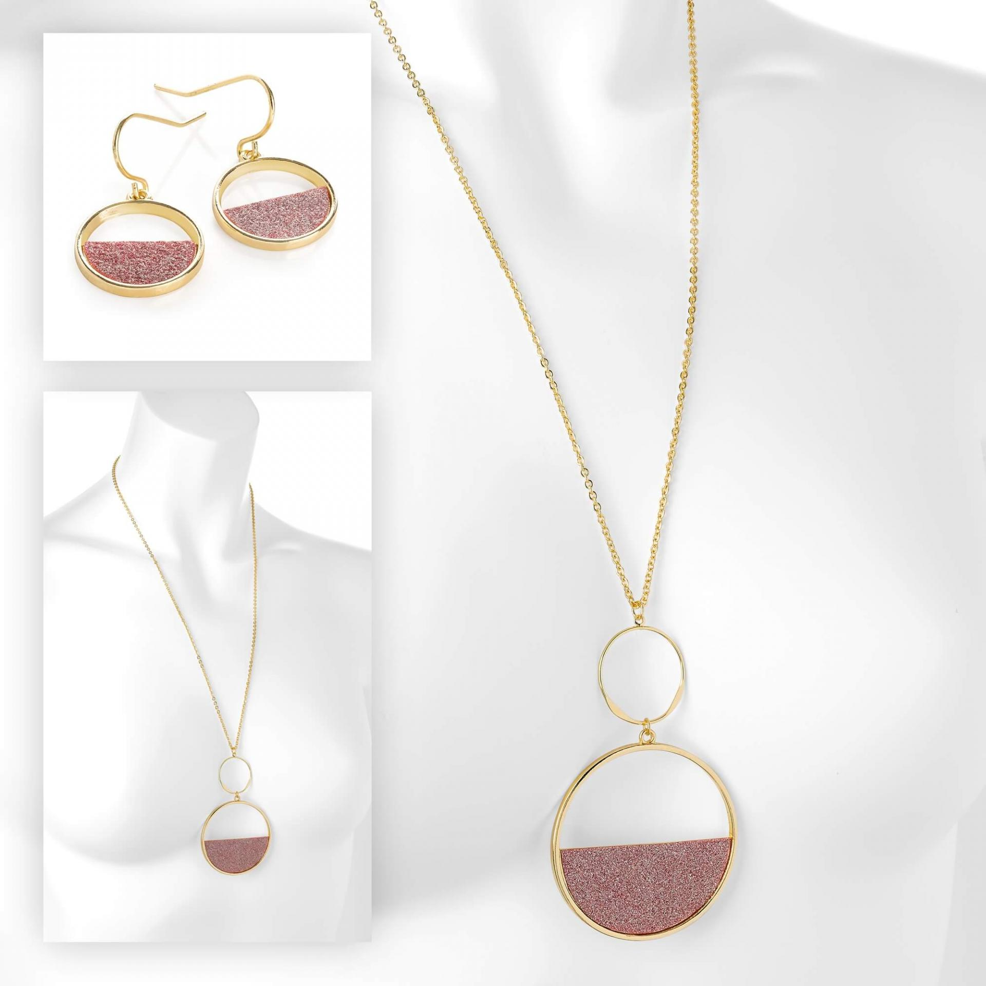 Set de bijoux fantaisie tendance en or rose image 2019