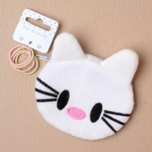 Trousse a elastique hello kitty blanc