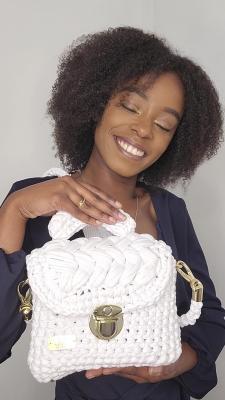 Sac à main Teyssa beauté - collection Indigo - le petit Blanc